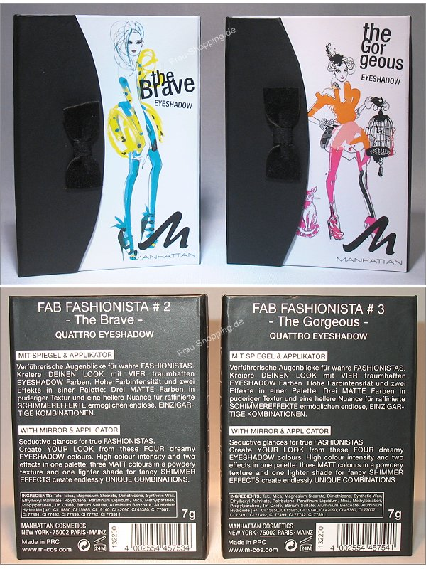Manhattan Fab Fashionista The Brave und The Gorgeous Palette