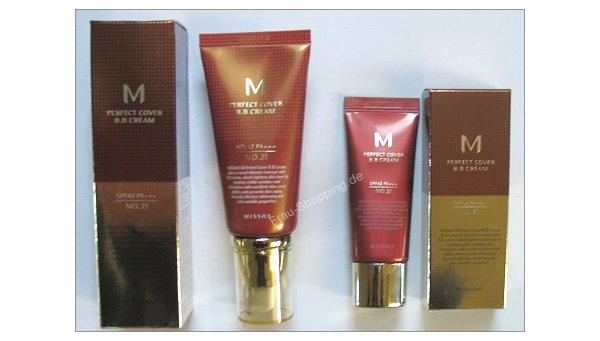Missha Perfect Cover BB Cream 50 ml und 20 ml Tube