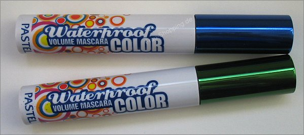 Pastel Waterproof Volume Mascara in Blau und Grün