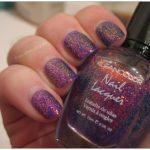 Frisch lackiert: Kleancolor 234 Chunky Holo Purple