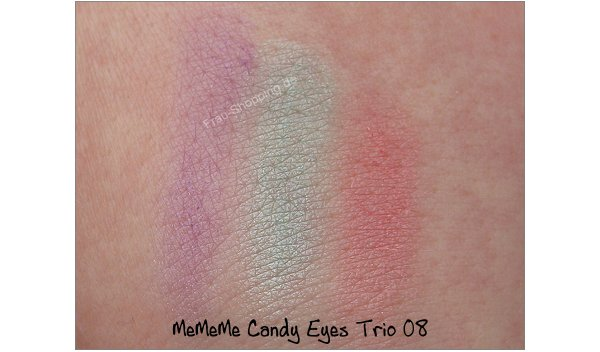 MeMeMe Lidschatten Swatch Candy Eyes Trio 08
