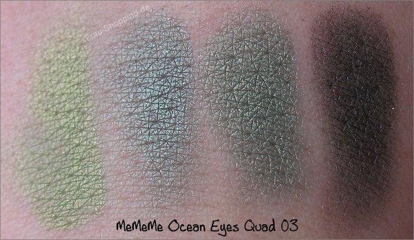 MeMeMe Lidschatten Swatch Ocean Eyes Quad 03