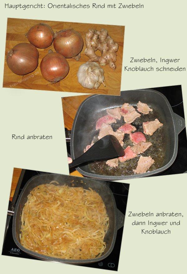 Das Hauptgericht aus der TastyBox - Orientalisches Rindfleisch mit Zwiebeln