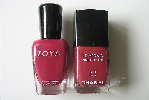 Ist Zoya Bianca ein Dupe für Chanel April?