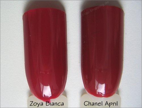 Zoya Bianca und Chanel April - Dupe oder nicht - das ist die Frage