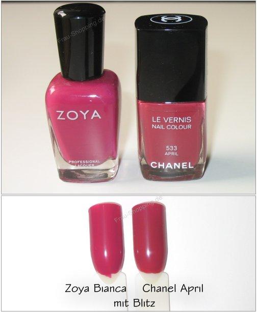 Zoya Bianca ist KEIN Dupe zu Chanel April
