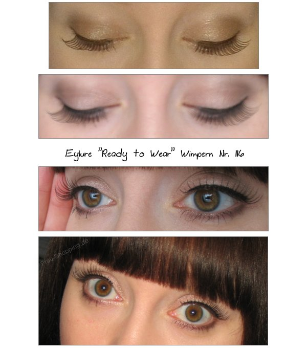 Eylure Ready to Wear Wimpern Nr. 116 angebracht