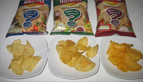 Walkers Mystery Flavour Chips ausgepackt