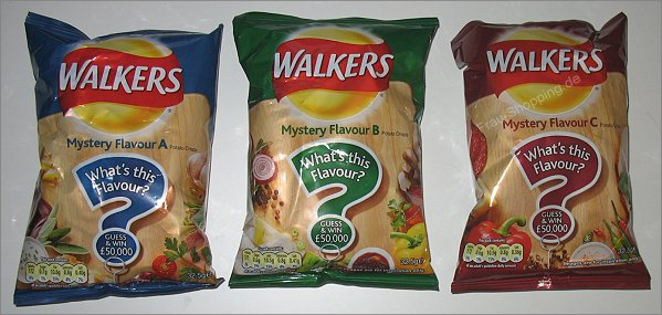 Walkers Mystery Flavour Chips A B C
