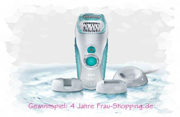 4 Jahre Frau Shopping - Gewinne einen Braun Silk-épil 7 Dual Epilierer!
