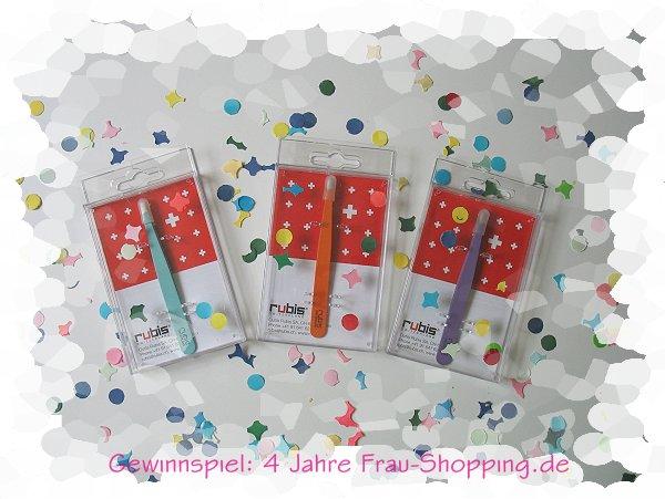4 Jahre Frau Shopping - Gewinne eine Rubis Pinzette