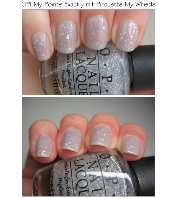OPI My Pointe Exactly mit OPI Pirouette My Whistle Swatch