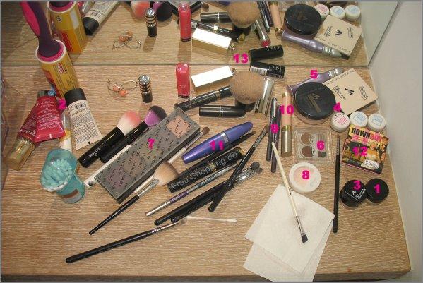 Chaos im Urlaub - meine nummerierte Schminkroutine