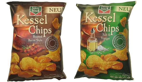 funny frisch Kessel Chips Roasted Bacon Style und Salt & Vinegar