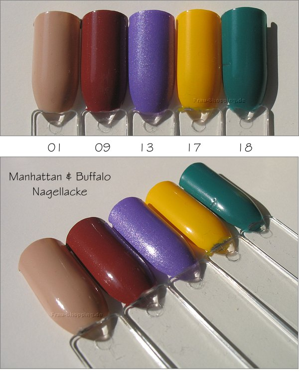 Manhattan & Buffalo Polka Hot Nagellacke Swatches