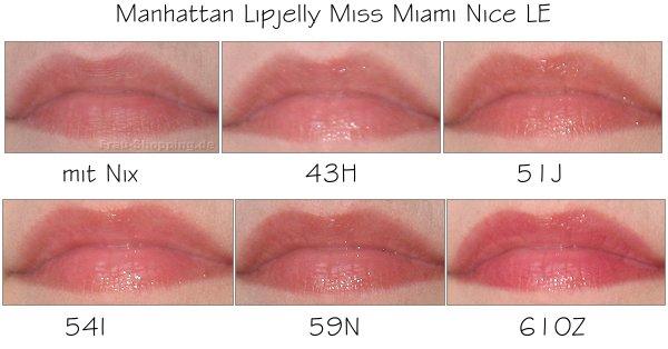 Manhattan Miss Miami Nice Lipjelly auf dem Mund