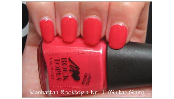 Manhattan Rocktopia Nr. 1 Guitar Glam aufgetragen