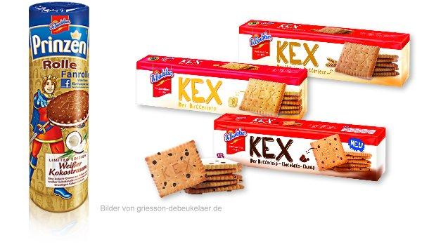 Neu im Supermarkt ab Juli 2012 DeBeukelaer KEX und Prinzenrolle Kokos