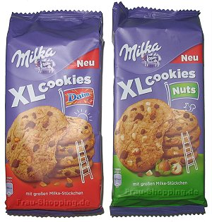 Milka XL Cookies Daim und Milka XL Cookies Nuts