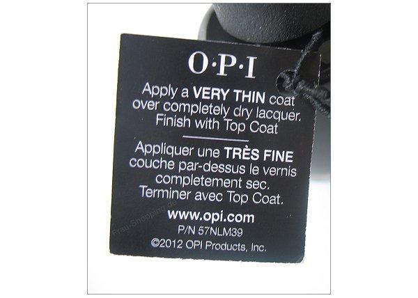 OPI Black Spotted - Anweisung zum Lackieren