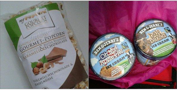 Aus meinem Einkaufswagen - MyPopcorn und Ben & Jerrys Eis