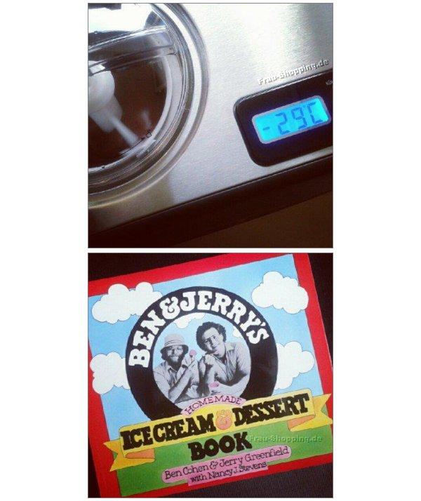 Meine Eismaschine und das Ben & Jerrys Eisbuch