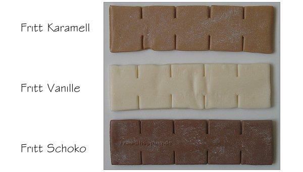 Fritt Karamell, Fritt Vanille und Fritt Schoko ausgepackt