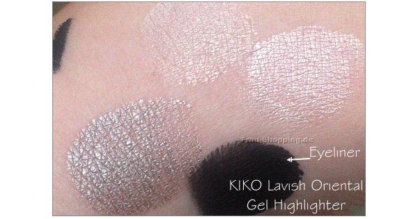 KIKO Lavish Oriental Swatches - Gel Highlighter