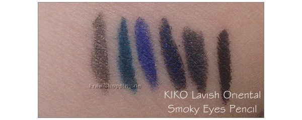 KIKO Lavish Oriental Swatches - Smoky Eyes Pencil