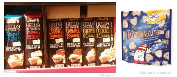 Neu im Supermarkt: Lindt Hello My Name is Reihe und Dr. Quendt Dinkelchen Zimt