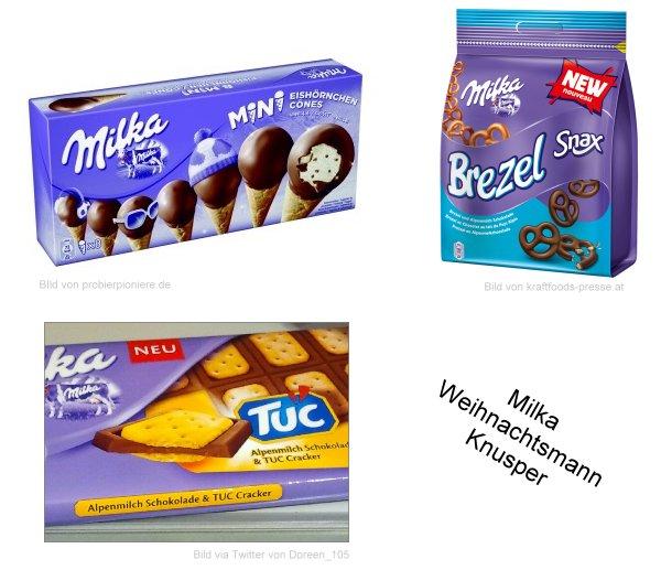 Neu im Supermarkt: Milka Mini Cones, Milka Snax Brezel, Milka und TUC