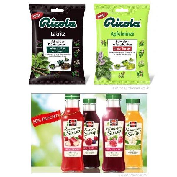 Neu im Supermarkt: Ricola Lakritz, Ricola Apfelminze und Schwartau Fruchtsirup