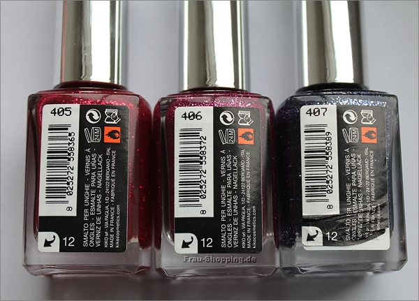 KIKO Dashing Holidays Nagellack 405, 406 und 407