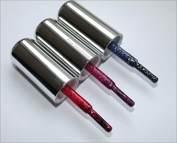 KIKO Glitter Nagellack - die Pinsel von Nr. 405, 406 und 407