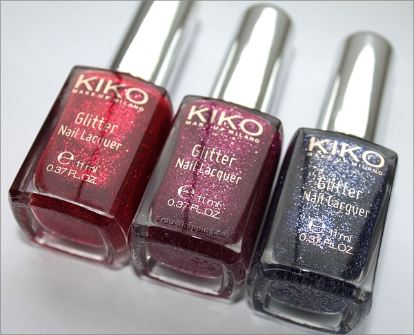 KIKO Dashing Holidays - mein Einkauf - drei Glitter Nagellacke
