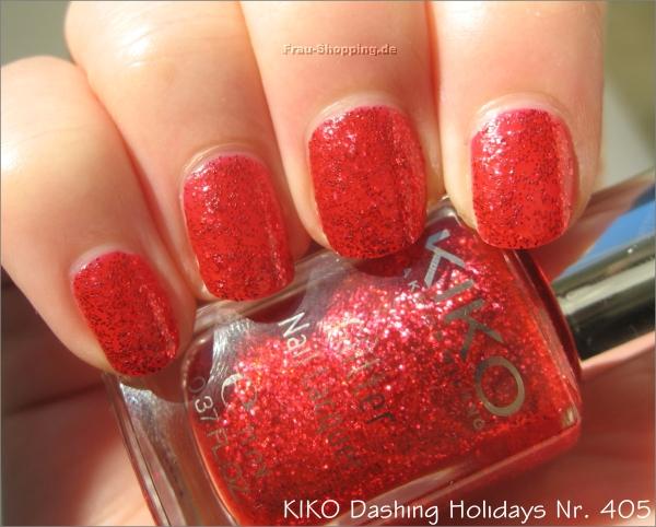 KIKO Dashing Holidays Nagellack Nr. 405 bei Sonnenlicht