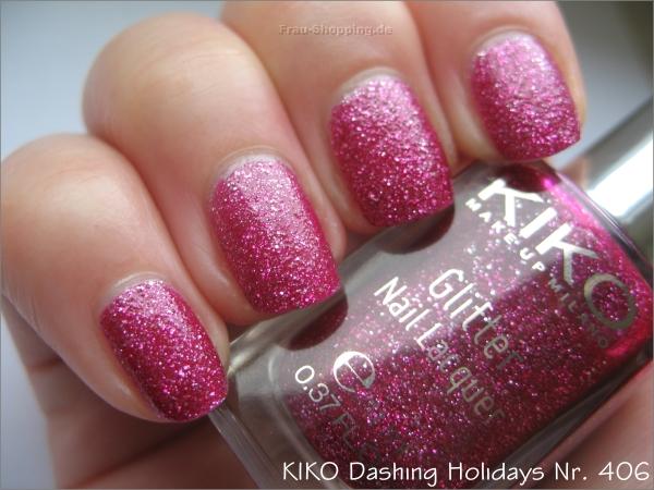 KIKO Dashing Holidays Nagellack Nr. 406 bei Tageslicht