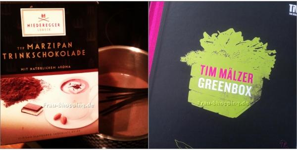 Aus meinem Einkaufswagen - Marzipan Trinkschokolade und das Greenbox Kochbuch