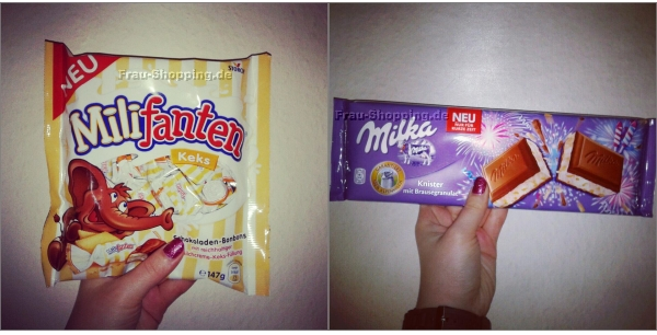 Aus meinem Einkaufswagen - Milifanten und Milka Knisterschokolade