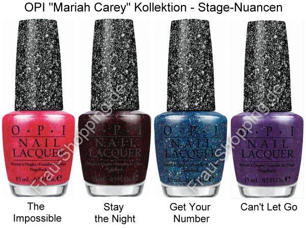 Preview: OPI Mariah Carey Kollektion - Stage-Nuancen