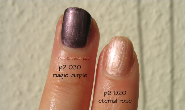 p2 Keep the Secret Nagellacke - Swatch eternal rose und magic purple