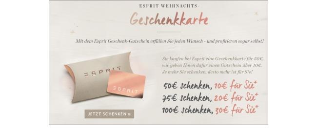 Esprit Geschenkkarten
