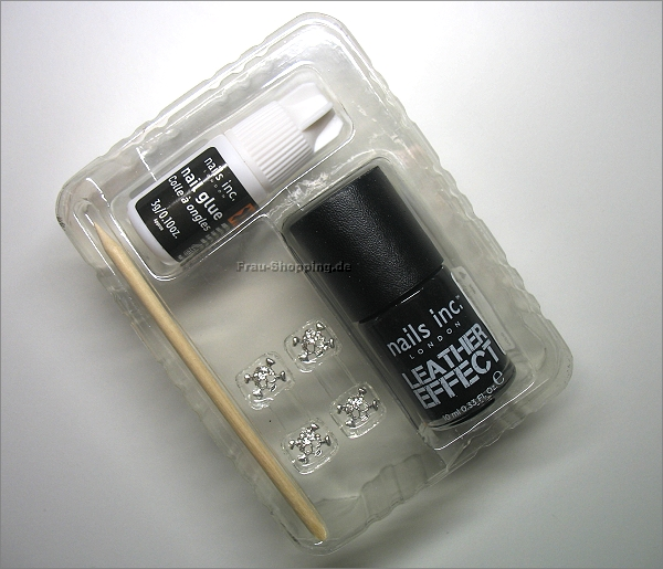 nails inc. Leather Effect Nails ausgepackt
