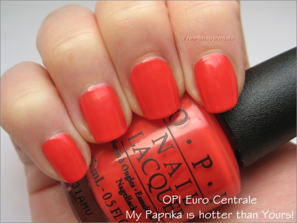 OPI My Paprika is hotter than Yours Swatch
