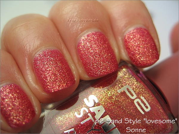 p2 lovesome Swatch in der Sonne