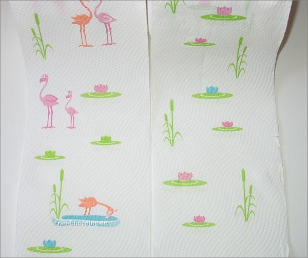Duftenden Toilettenpapier von Rossmann mit Flamingo-Druck