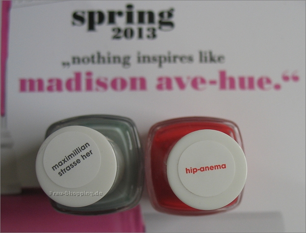 essie Madison Ave-Hue Kollektion - maximillian strasse her und hip-anema
