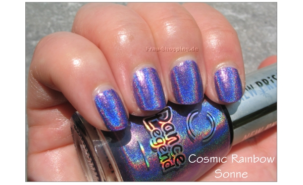 Dance Legend Cosmic Rainbow Swatch in der Sonne