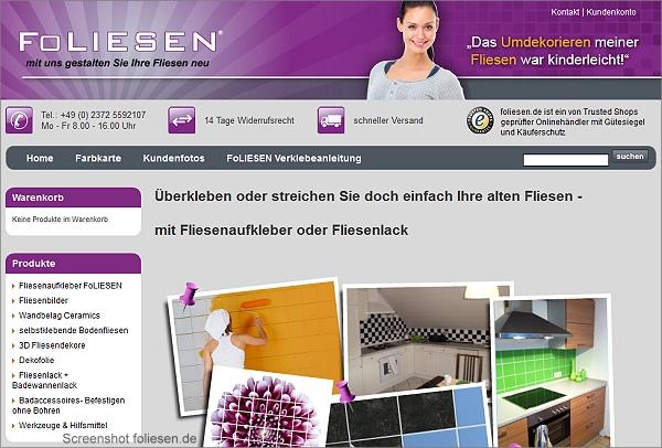 Screenshot foliesen.de