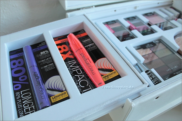 Mascaras im wet n wild Make-up Koffer